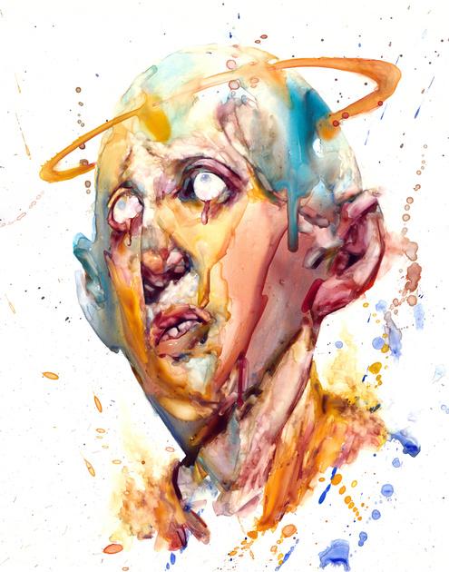 "watercolor on Yupo paper, 11""x14"", 2017"