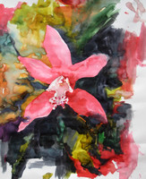 """orchid 1""- watercolor on paper (2009)"