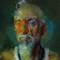 "portrait of Daniel Hill, oil on wood panel, 16""x 20"", 2013"