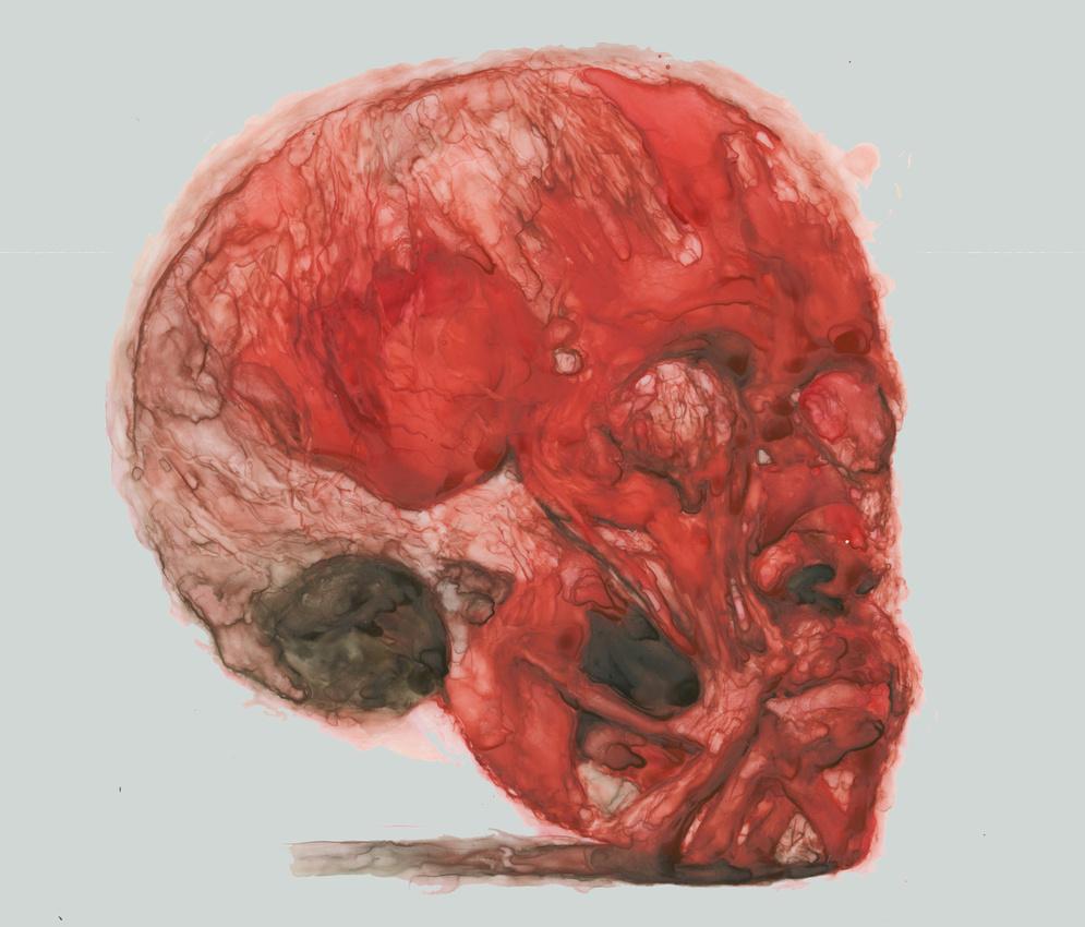 "human headpiece, watercolor on yupo, 9""x12"", 2014"